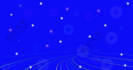 蓝色线状科技素材图片