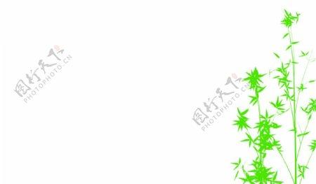 名片树状纯色底图图片