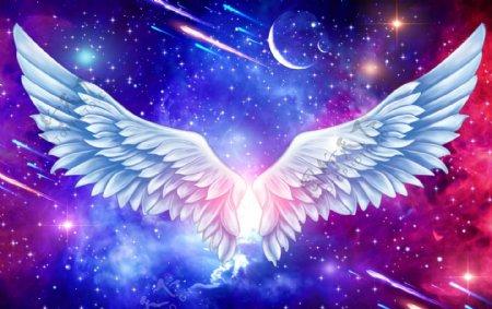 梦幻星空翅膀图片