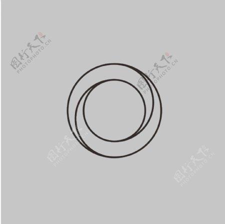 圆圈艺术圆旋转简笔画图片