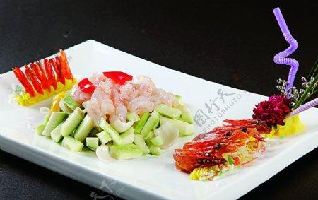 浙菜芦笋百合炒大明虾图片