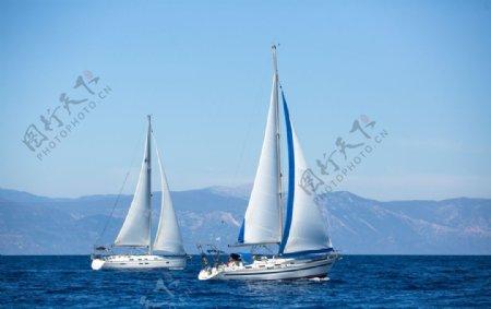 海上的帆船图片