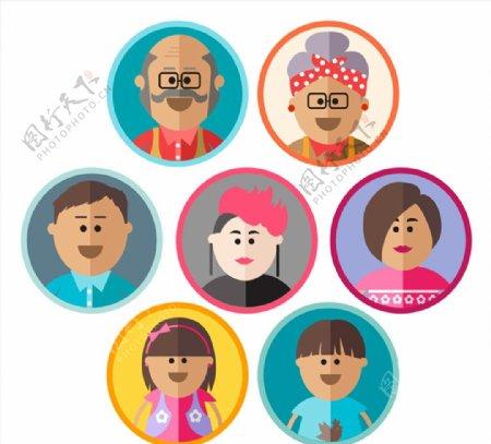 家庭人物头像图片