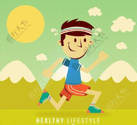 跑步健身男子图片