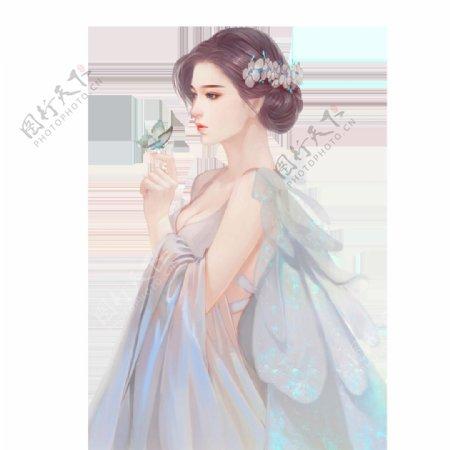 女王节手绘女人文艺小清新图片