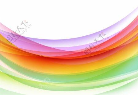 彩色线条背景图片