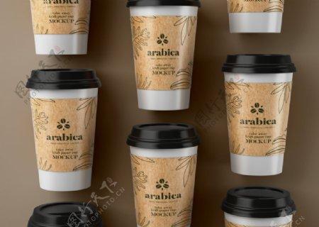 咖啡纸杯样机图片