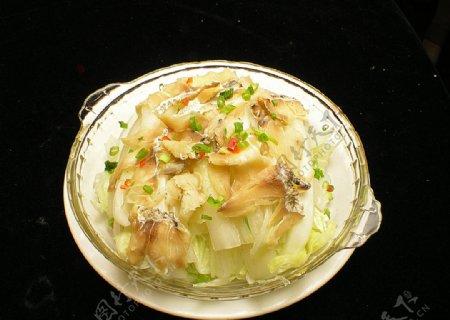 咸鱼蒸大白菜图片