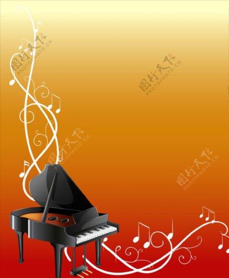 音乐乐器背景图片
