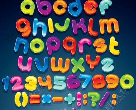 可爱卡通英文字母图片