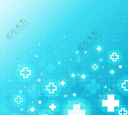 蓝色医疗符号背景图片