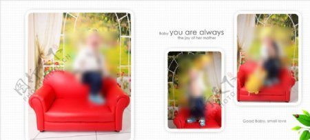开心小公主幼儿少儿纪念相册模板图片