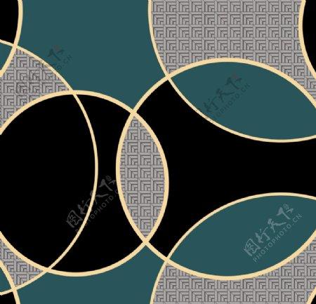 新中式几何墙纸墙布花型图片