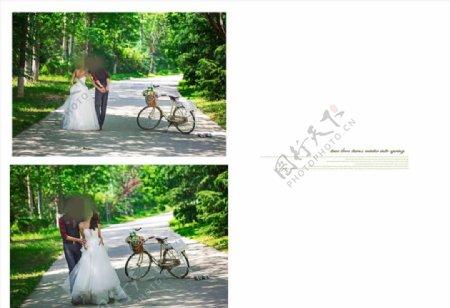 密林花园的真爱相册模板图片