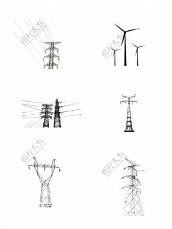 电缆电力风车图片