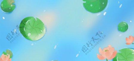 中国风背景夏天图片