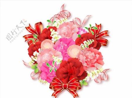 花朵蝴蝶结背景图片