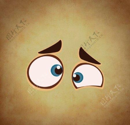 卡通眼睛背景图片
