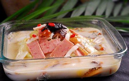 火锅配菜奶汤佛手白图片