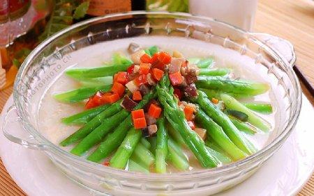 火锅配菜上汤芦笋图片