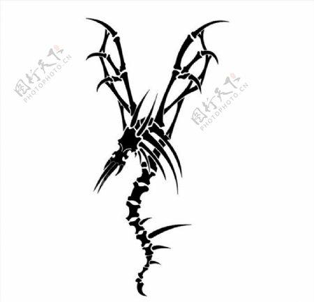 飞龙图腾纹身图案图片