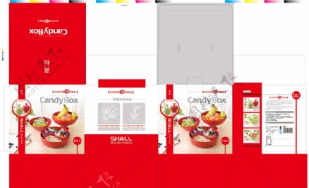时尚果盘包装设计图片
