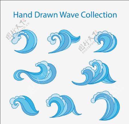海浪波浪波纹图片