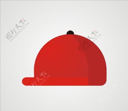 帽子矢量鸭舌帽红色帽子图片