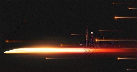 发光高铁城市图片