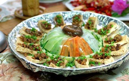 富贵红花豆腐图片