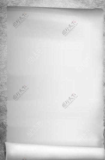 灰色质感复古卷纸广告背景图片