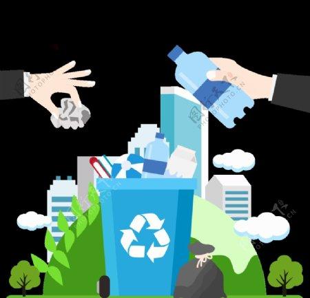 垃圾桶垃圾分类环保图片