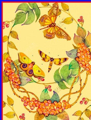 蝴蝶蜜蜂图片