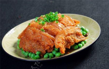 热豌豆粉蒸肉图片