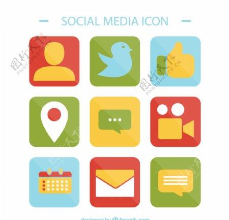 社交媒体图标图片