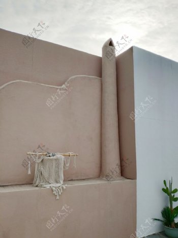 西部牛仔沙漠风围墙图片