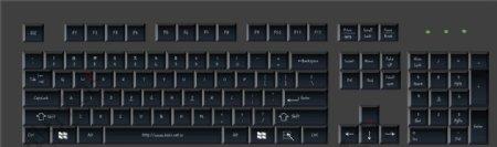 黑色键盘图片