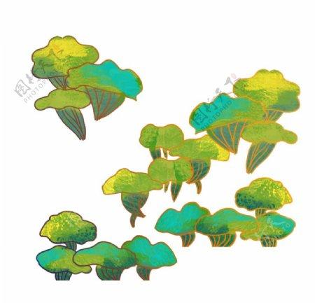 卡通植物元素图片