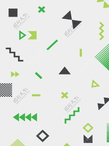 几何拼接图案小清新背景图片