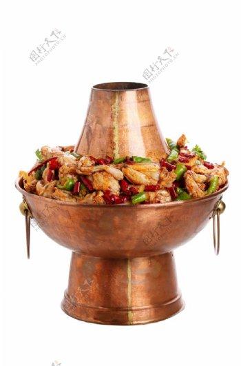 牛蛙铜锅图片