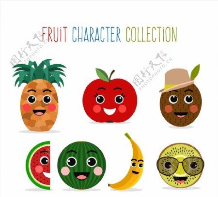 可爱笑脸水果图片