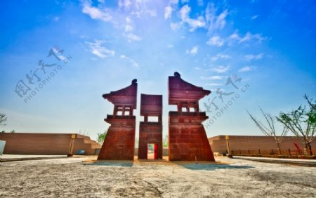 大明宫雕塑图图片