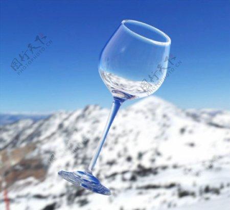 C4D模型动画红酒杯图片