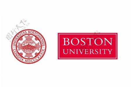 美国波士顿大学校徽图片