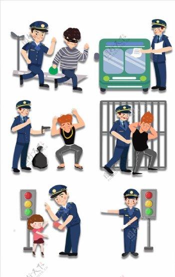 卡通警察素材图片