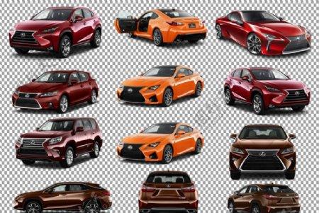 红色版雷克萨斯车图片