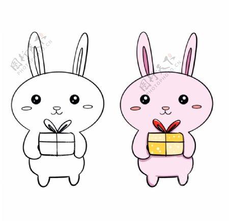 兔子简笔画图片