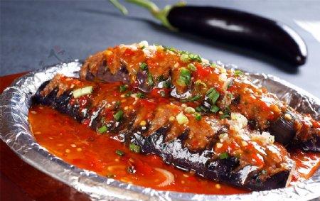热铁板茄子图片
