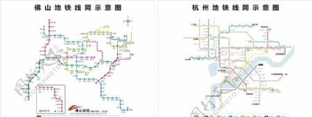 杭州佛山地铁线路图图片