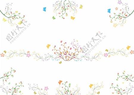 花园小清新花纹图片